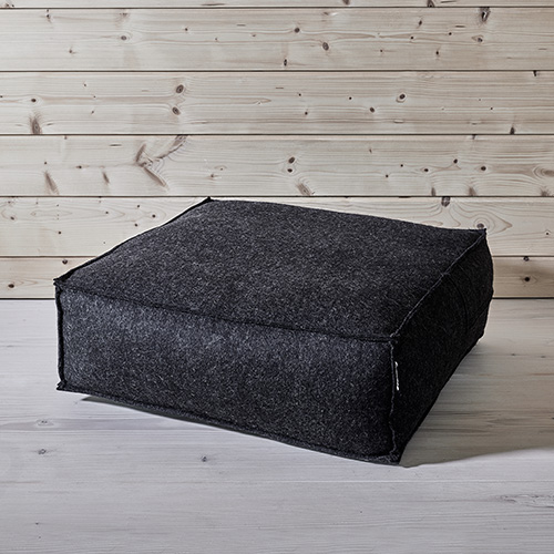 Huili stool - Dark grey melange