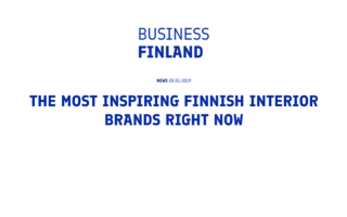 Bonden has been selected one of the most inspiring Finnish interior design brands by Business Finland