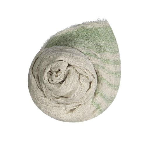 Sarastus scarf, natural dyed stripes